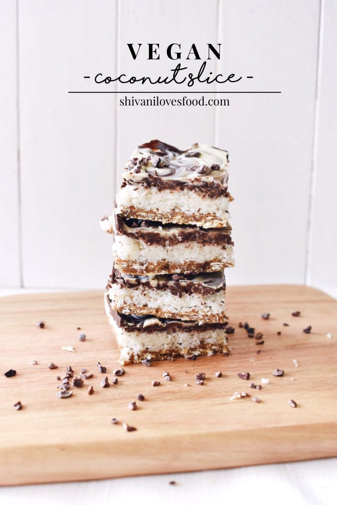 Vegan Coconut Slice | Shivani Loves Food
