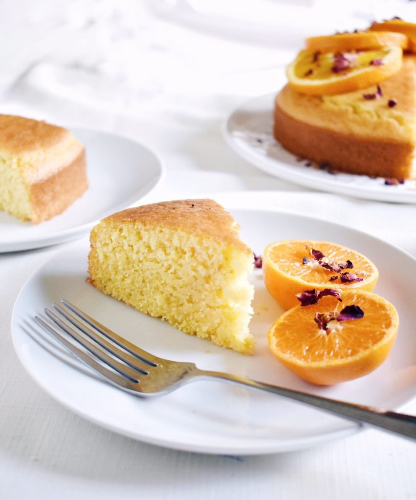 Orange + Rose Polenta Cake | Shivani Loves Food