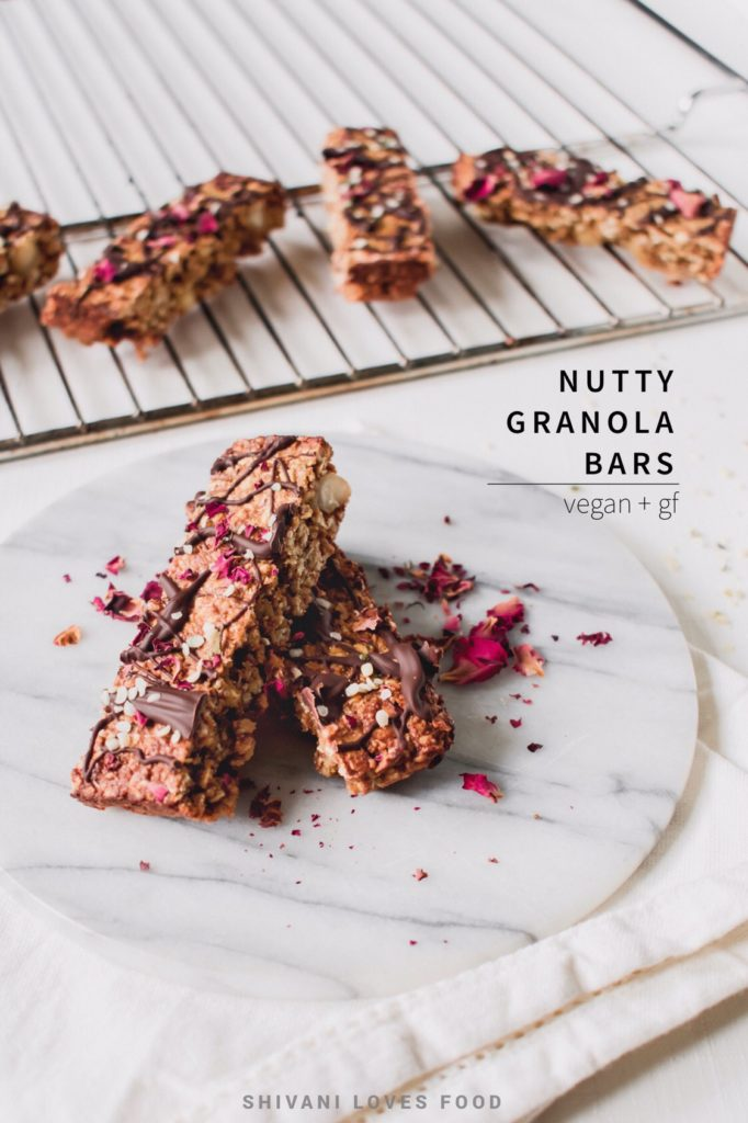 Nutty Vegan Granola Bars | Shivani Loves Food