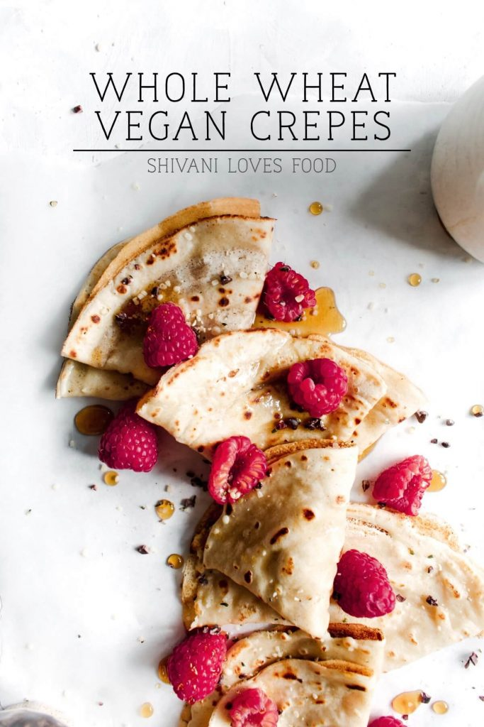 whole wheat vegan crepes