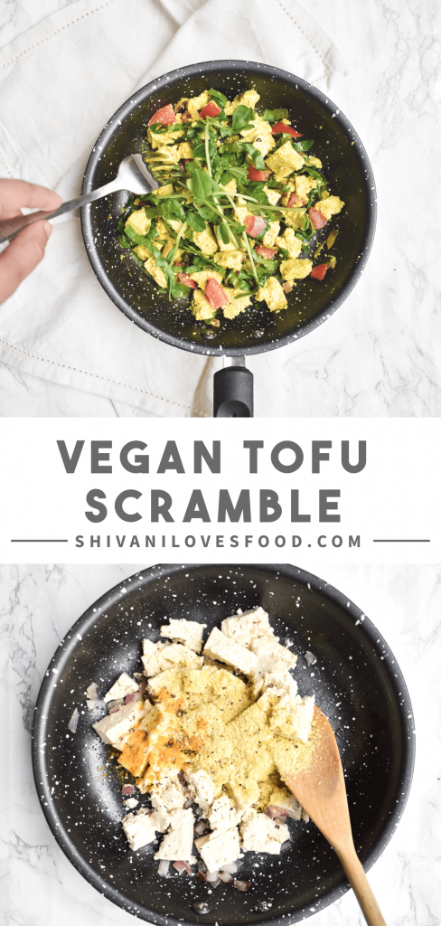 How to make tofu scramble step-by-step: a guide to making this plant-based alternative to scrambled eggs. Tofu scramble is the perfect vegan breakfast! #vegan #tofu