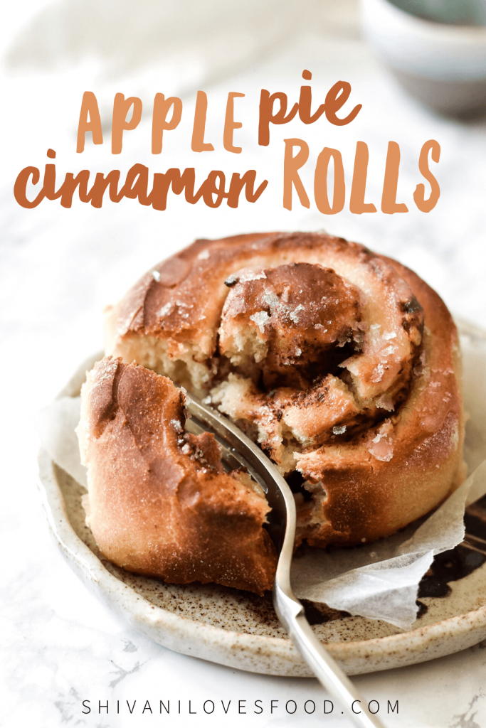 Apple pie cinnamon rolls are a tasty upgrade on the traditional cinnamon roll.This easy (and vegan!) recipe is a definite crowd pleaser!
