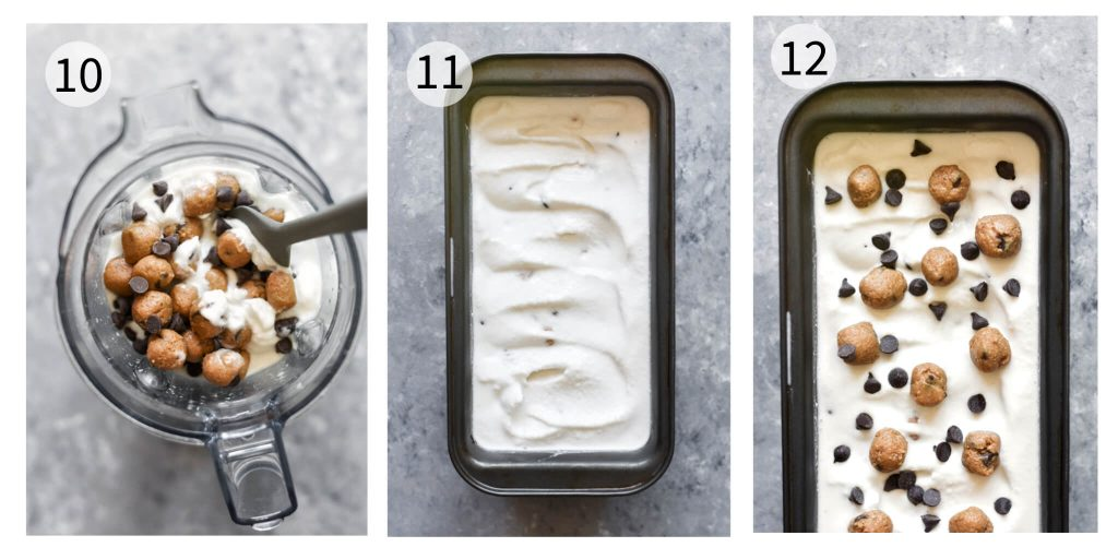 how to make vegan cookie dough ice cream steps 10-12