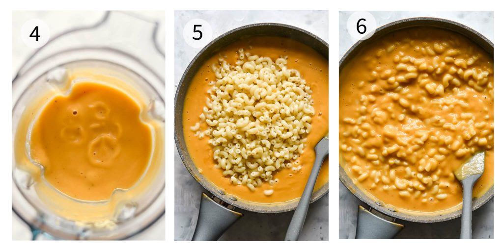how to make sweet potato mac and cheese steps 4-6
