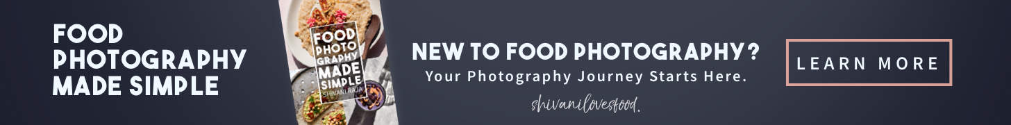food photography book ad